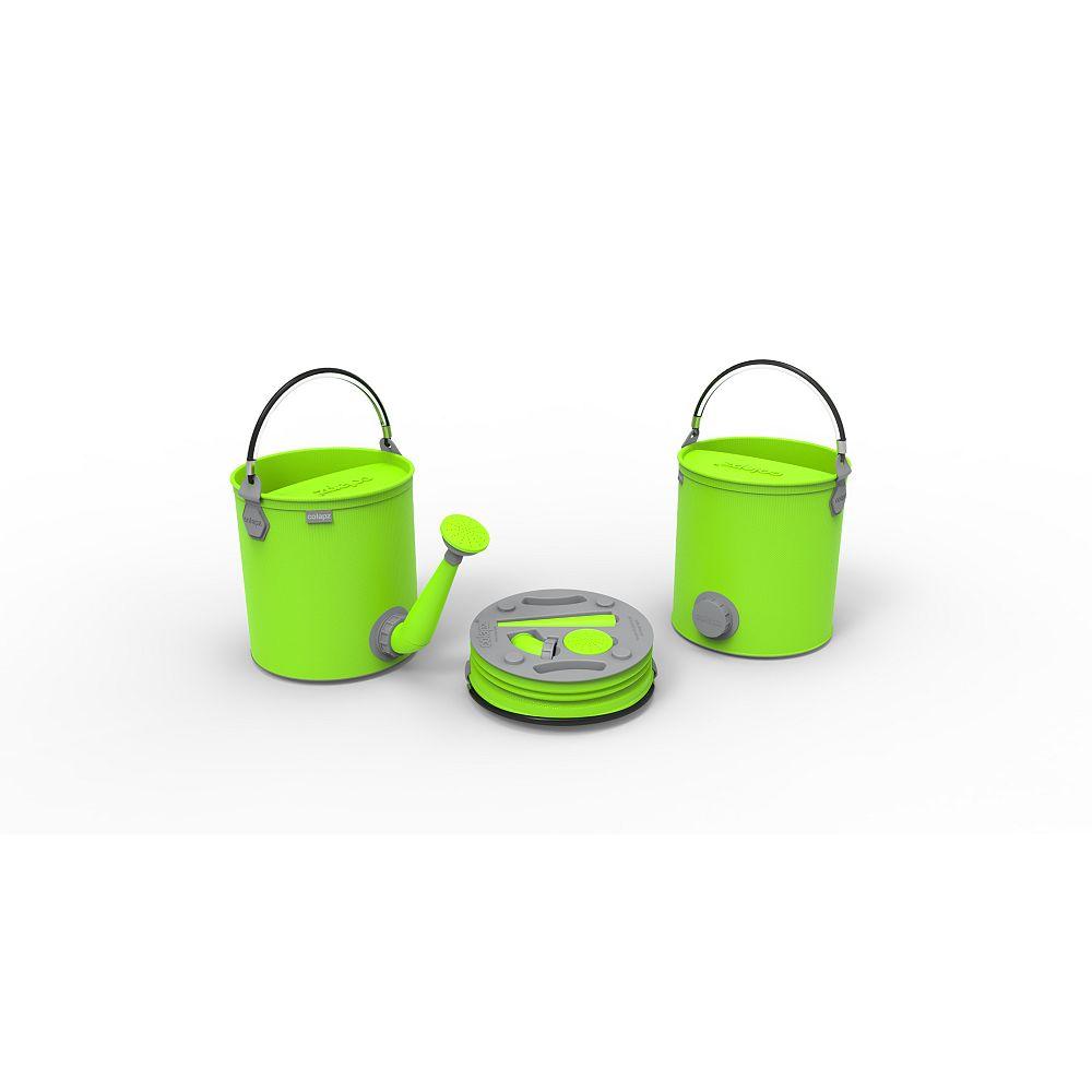 Colourwave Arrosoir et seau 2 en 1 pliants, de couleur vert lime