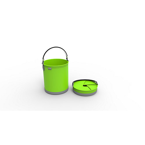 Colpaz Collapsible Bucket in Lime Green