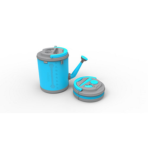 Colpaz Collapsible Watering Can in Aqua Blue