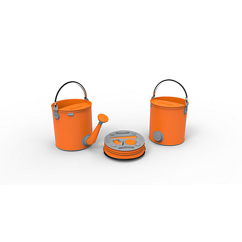Colpaz Collapsible 2-in-1 Watering Can & Bucket in Juicy Orange