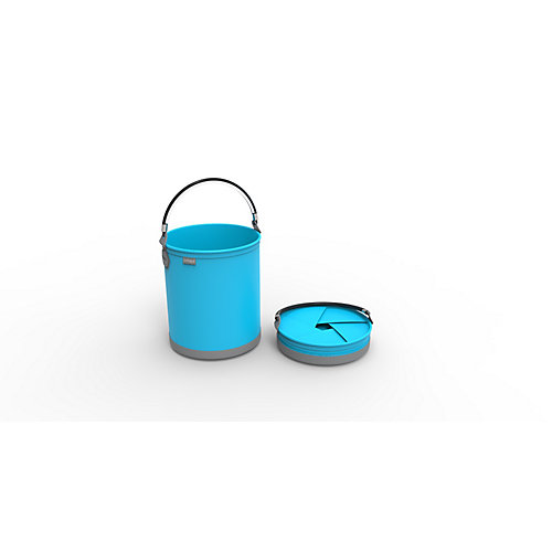 Colpaz Collapsible Bucket in Aqua Blue