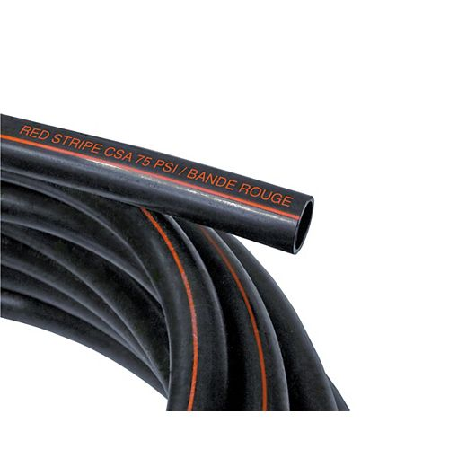 Poly Pipe 3/4 Inch X 25 Feet 75psi Red Stripe