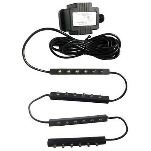 Ensemble 24 lumières DEL, 4 barres de 6 lumières sur ruban de 125 cm, câble 4,5 m