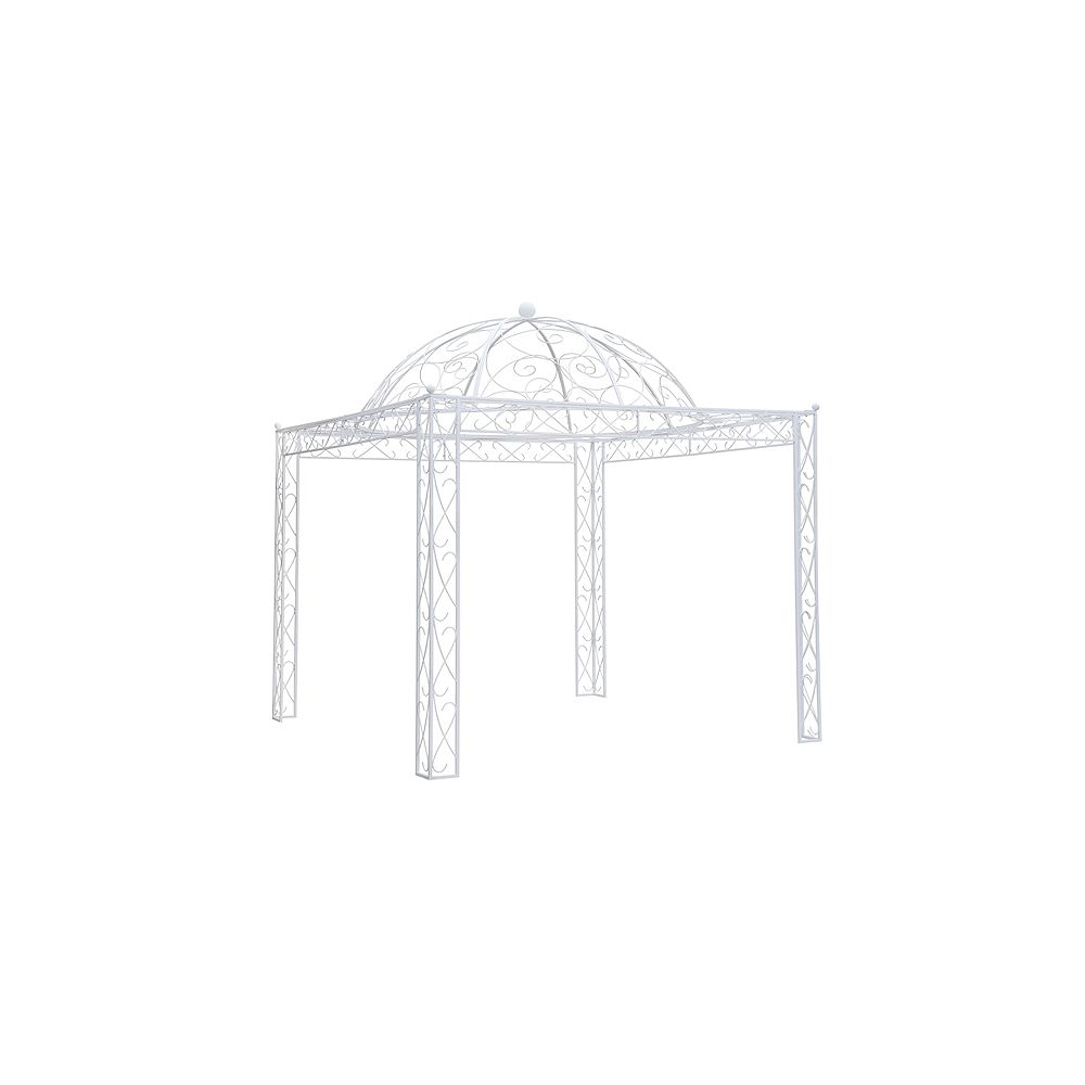 Sunjoy Holly Hill 10 ft. x 10 ft. Pavilion in Antique White