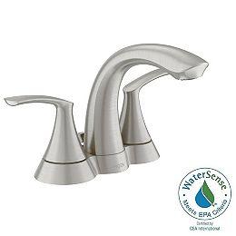 Darcy 4-inch Centerset 2-Handle Bathroom Faucet in Spot Resist Brushed Nickel