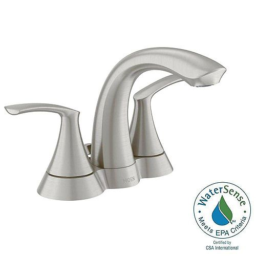 MOEN Darcy 4-inch Centerset 2-Handle Bathroom Faucet in Spot Resist Brushed Nickel