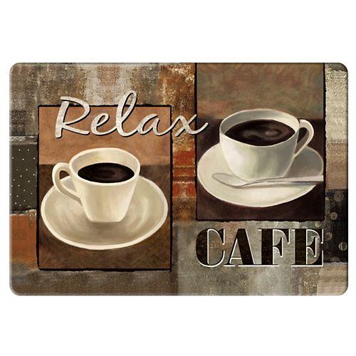 Tapis de Cuisine Anti-fatigue Détendez Café- 18 pouces x 30 pouces