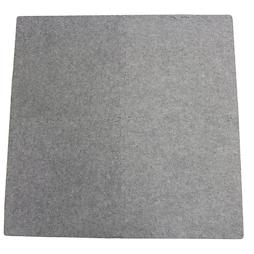 Connect-A-Rug Grey Anti-fatigue Interlocking Mat - 24 Inches x 24 Inches (4-Pack)