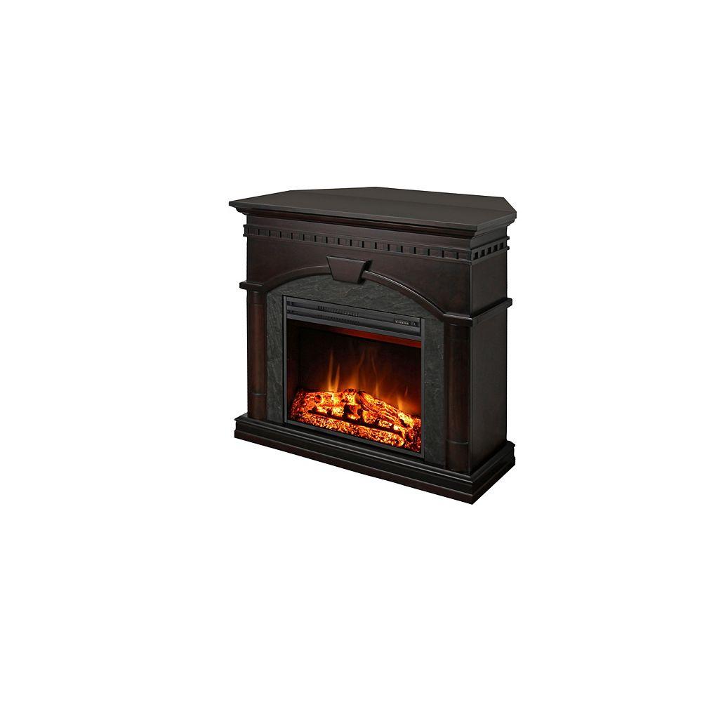 """Muskoka 23"""" cheminée électrique avec option d'angle, bruni Finition Noyer"""