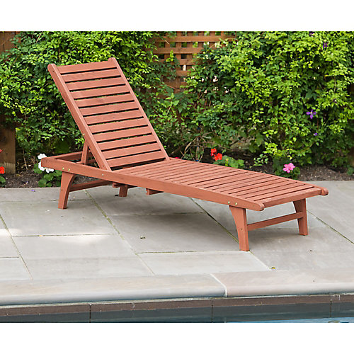 Chaise Lounge with Pull-Out Tray