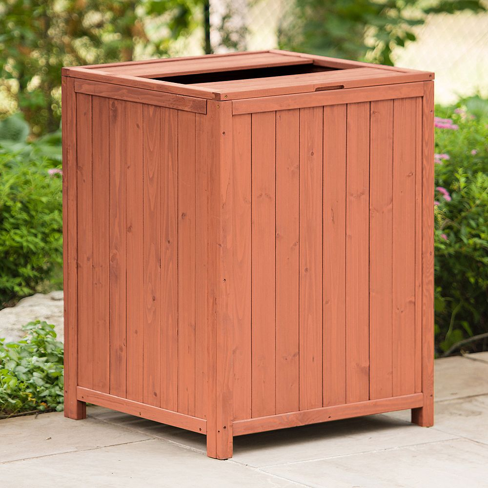 Leisure Season 0.35 cu. ft. Patio Trash Receptacle