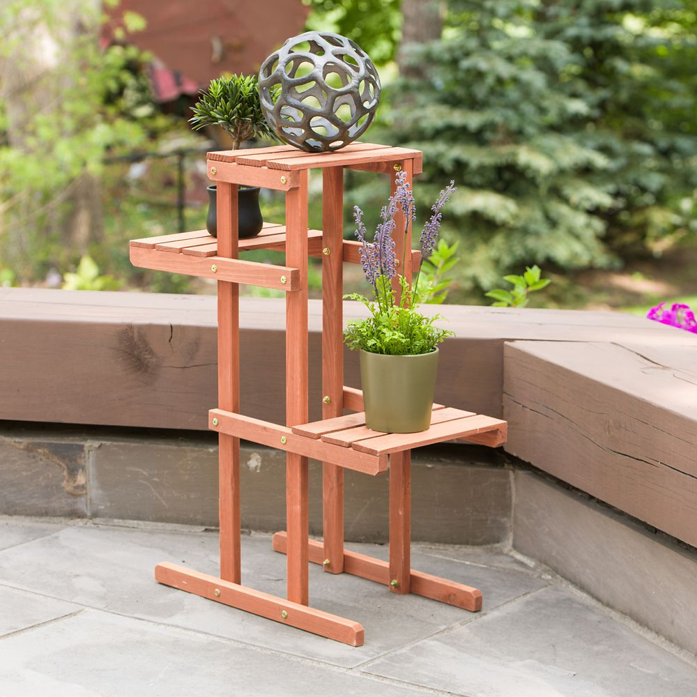 4-Tier Plant Stand with Rustic Maple Leaf Design Modern Indoor /& Outdoor Home D\u00e9cor Garden White