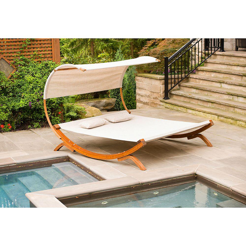 Leisure Season Sunbed With Canopy