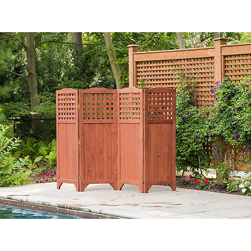 Leisure Season Folding Patio And Garden Privacy Screen