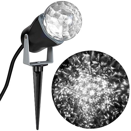 LightShow Kaleidoscope White LED Spotlight Holiday Scene Projector