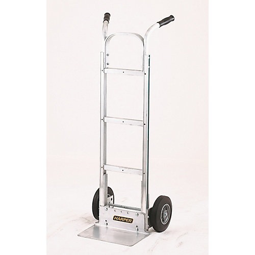 Ultra Light All Aluminum Dual Handle Hand Truck with Flat-Free Wheels