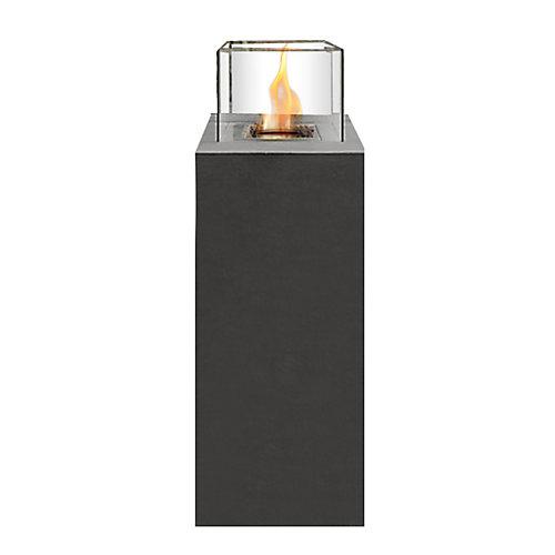Haute colonne de feu en béton façonnée à la main