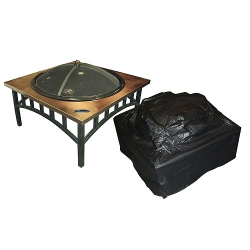 Outdoor Vinyl Square Fire Pit Cover