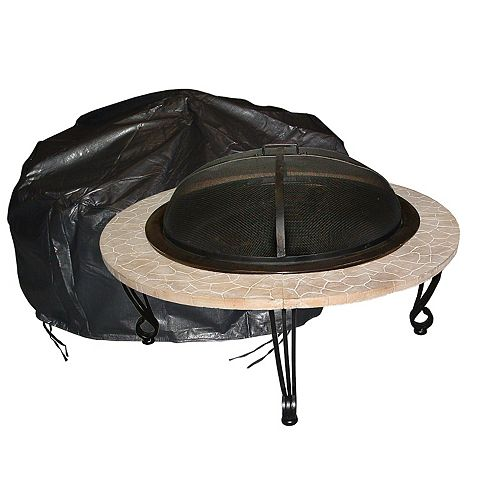Outdoor Vinyl Round Fire Pit Cover