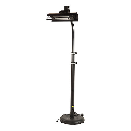 Infrared Patio Heater with Telescoping Offset Pole in Black