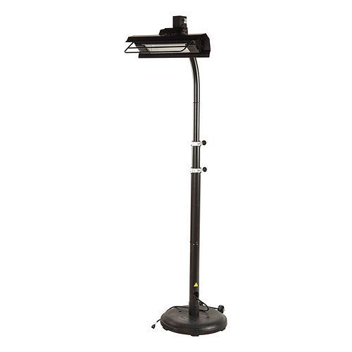 Telescopic Infrared Patio Heater, Black