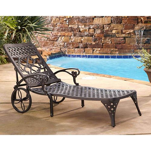 Biscayne Chaise Lounge Chair in Bronze