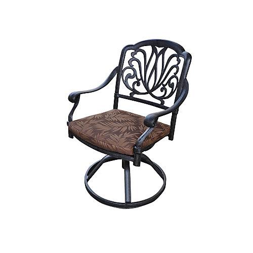 Chaise pivotante avec coussin
