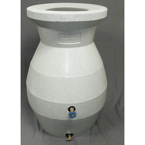 66 Gal. Rain Barrel in White Stone