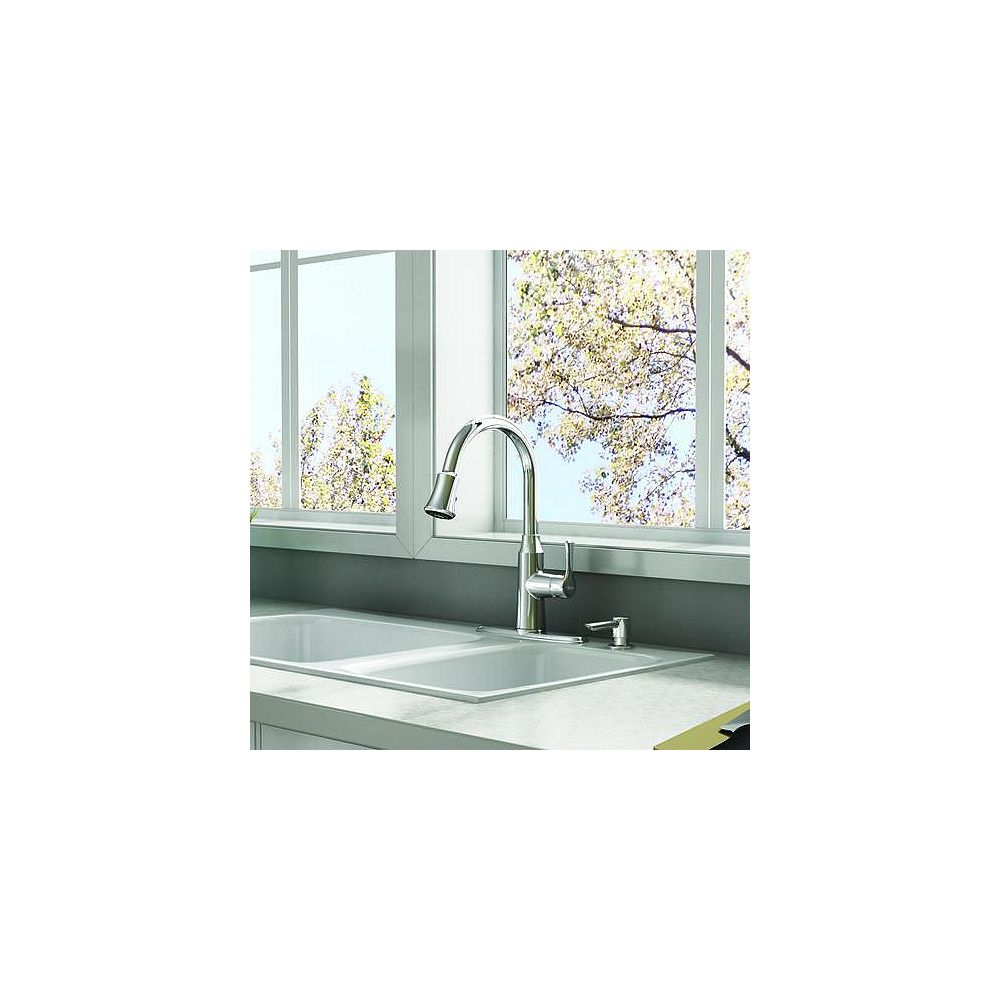 American Standard Danoa Single Handle Pull Down 3 Function Sprayer Kitchen Faucet With Soa The Home Depot Canada