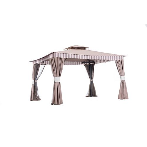 Larson 10 ft. x 12 ft. Gazebo with Vented Canopy