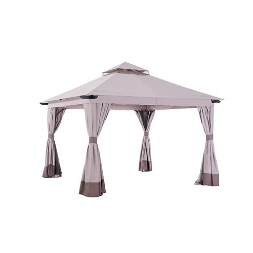 Brynn 12 1/2 ft. x 12 1/2 ft. Gazebo with Vented Canopy