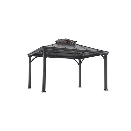 Jackson 12 ft. x 10 ft. Hard Top Gazebo with Two-Tiered Canopy