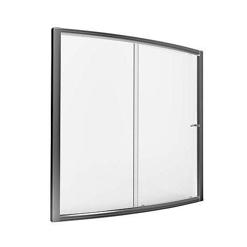 Porte coulissante transparente 60 po
