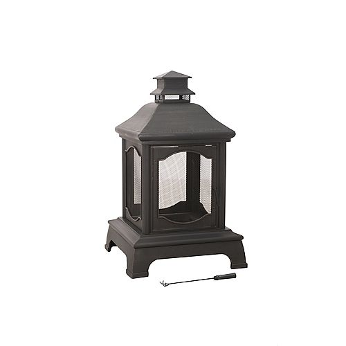 Louise Wood/Charcoal Outdoor Fireplace