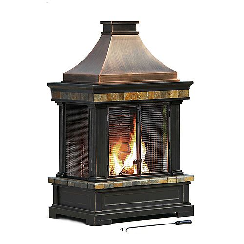 Amherst Wood/Charcoal Outdoor Fireplace