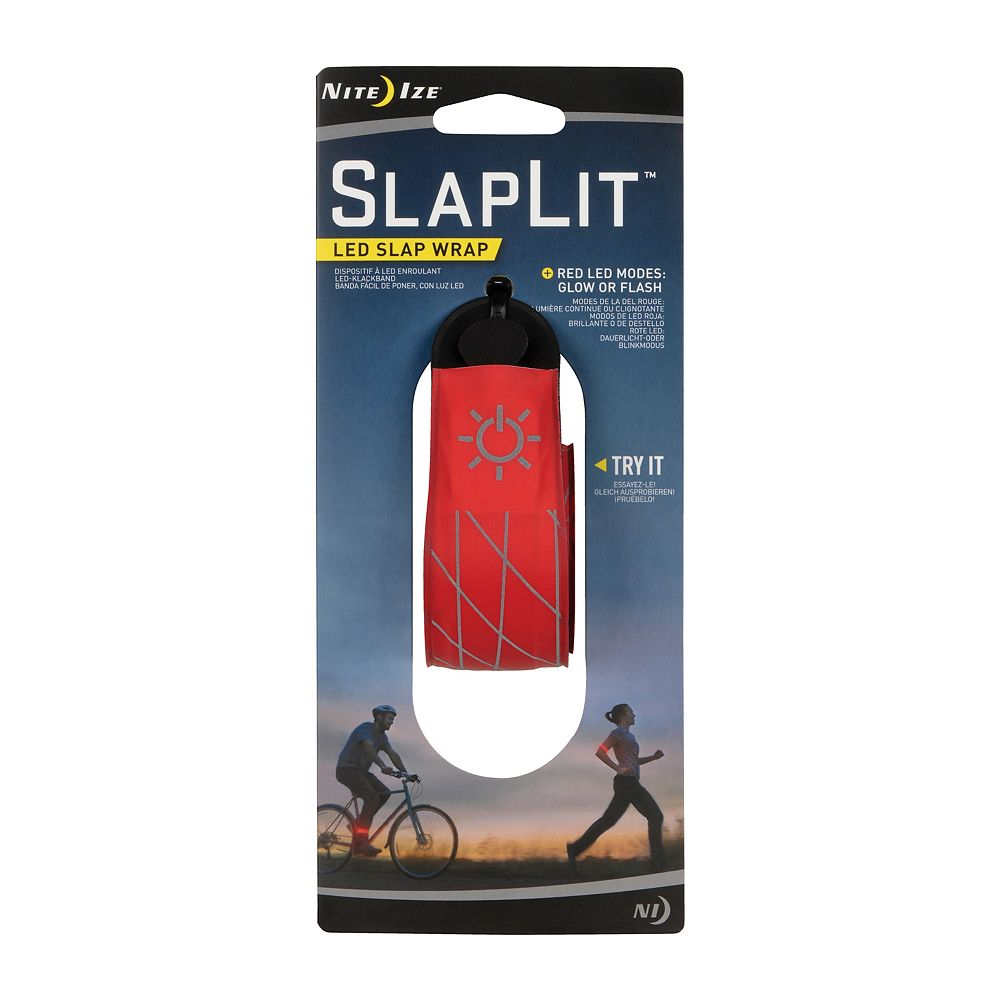 Nite Ize Nite Ize SlapLit LED Slap Wrap, Light Up Bracelet or Anklet For Nighttime Visibility, Red