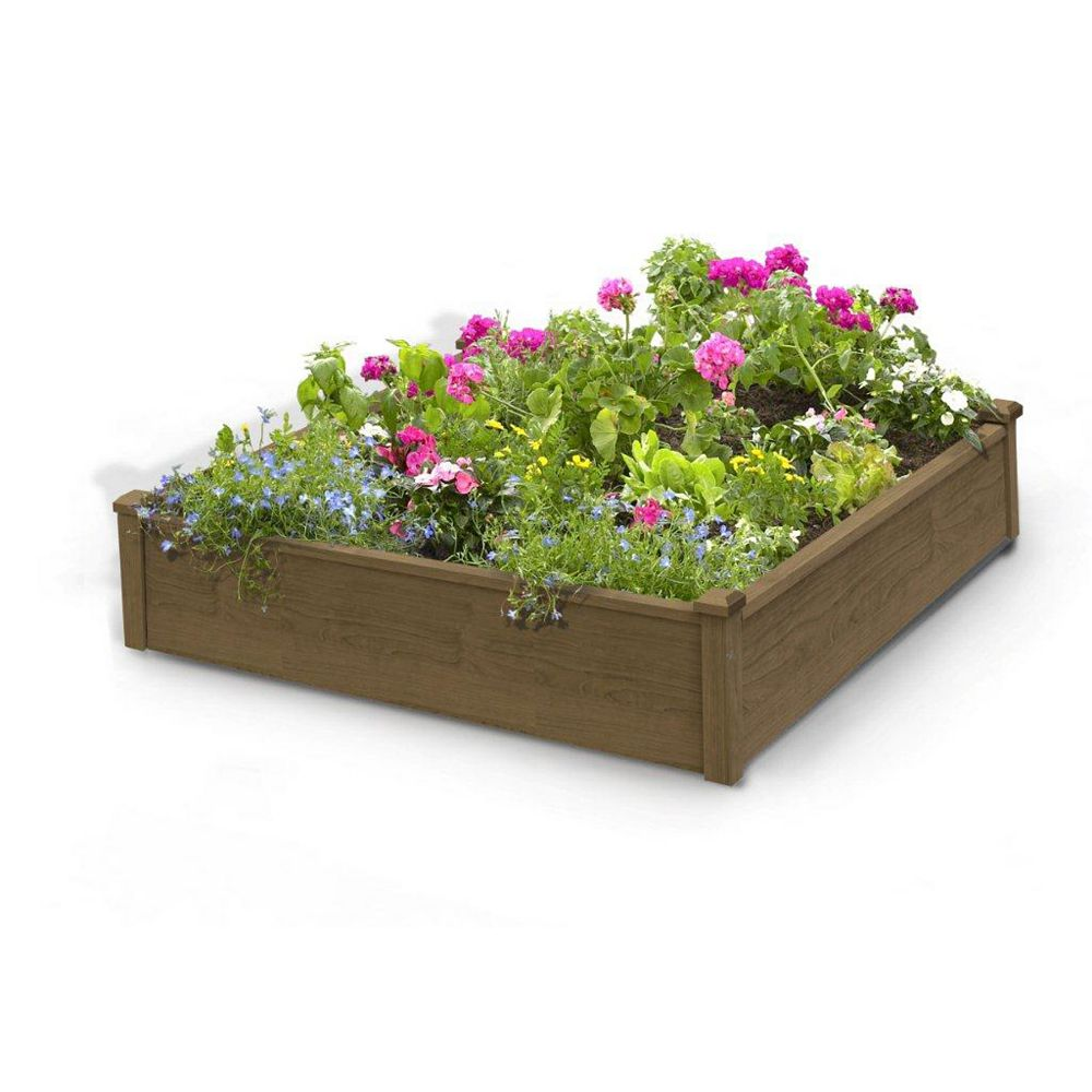 Algreen Products 4 ft. x 4 ft. x 12-inch Raised Garden Bed 34004