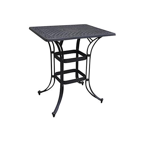 Table Bistro rectangulaire peu encombrante Biscayne au fini noir