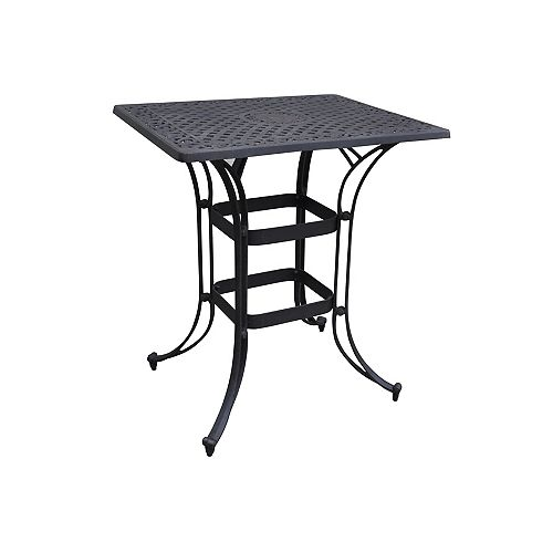 Biscayne Space Saving Rectangle Bistro Table Black Finish