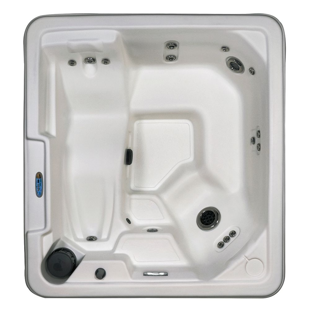 Qca Spas Sirena 5-Person 36-Jet Plug and Play Lounger Spa in Glacier White