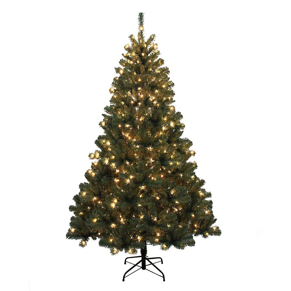 Home Accents Sapin de Noël Franklin artificiel avec 400 lumières intégrées, 2 m (6,5 pi)