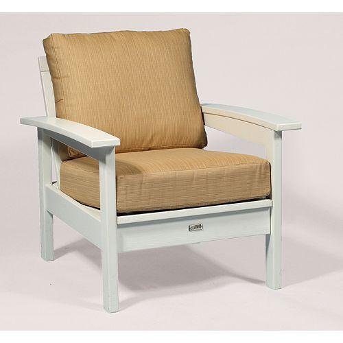 Bamboo Deep Seating Cushion Set in Beige & Tan