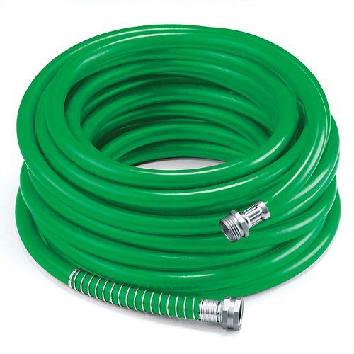 "5/8"" x 100' Premium Rubber Garden Hose - Green"