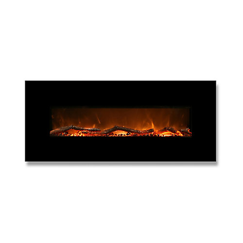 Valencia 50-inch Horizontal Wall Mounted Electric Fireplace with Remote Control