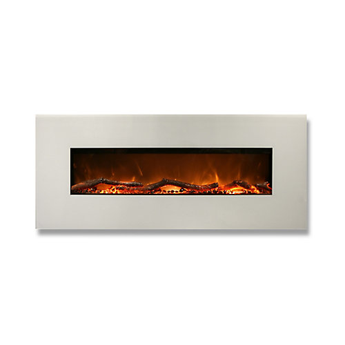 Madrid 50-inch Horizontal Wall Mounted Electric Fireplace with Remote Control