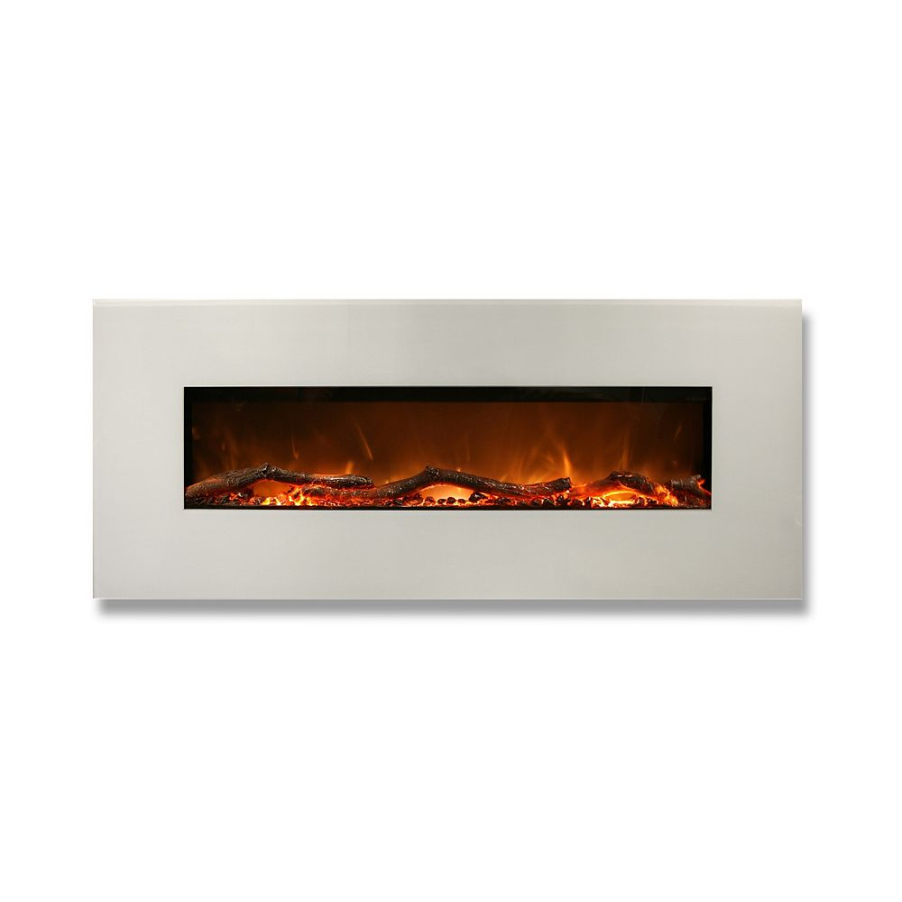 Frigidaire Madrid 50-inch Horizontal Wall Mounted Electric Fireplace with Remote Control
