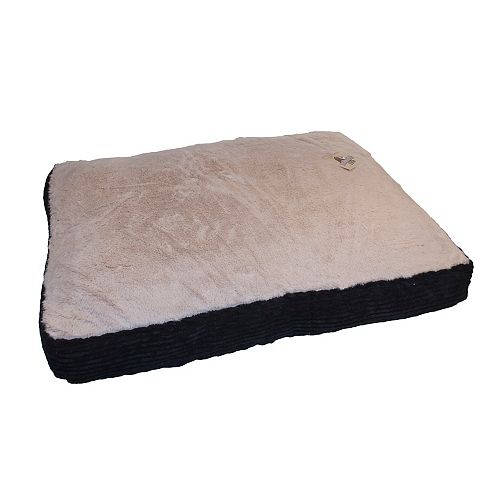Black 27X36x3 Bold Corduroy Pet Bed