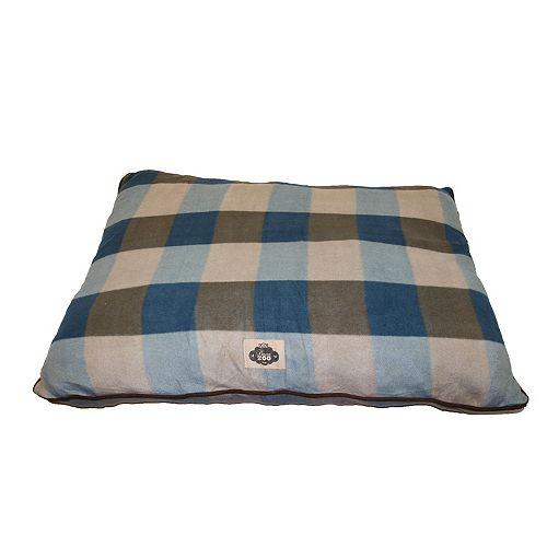 Grey 27X36 Plaid Polar Fleece Pillow