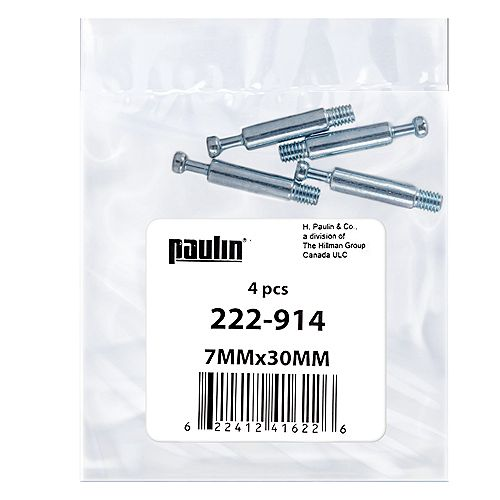 Paulin 7 mm X 30 mm Dowel Assembly Screw
