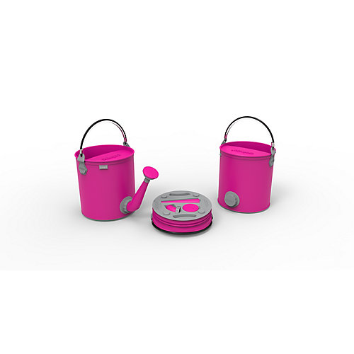 Colpaz Collapsible 2-in-1 Watering Can & Bucket in Candy pink